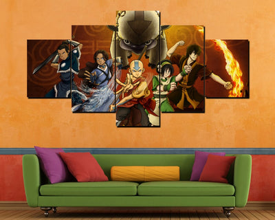 Avatar The Last Airbender - 5 Piece Painting
