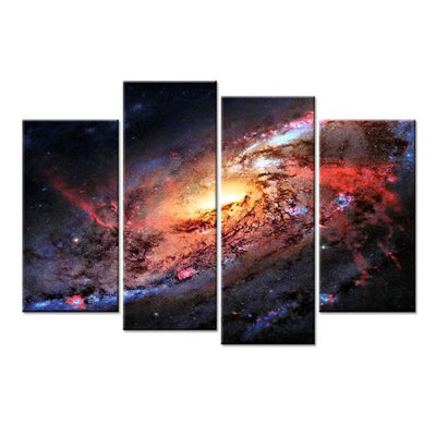 Empire Prints Canvas Beautiful Milky Way - 4 Piece Painting