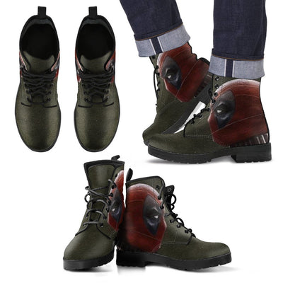 Empire Prints Shoes Men's Leather Boots / US5 (EU38) Men Deadpool Leather Boots