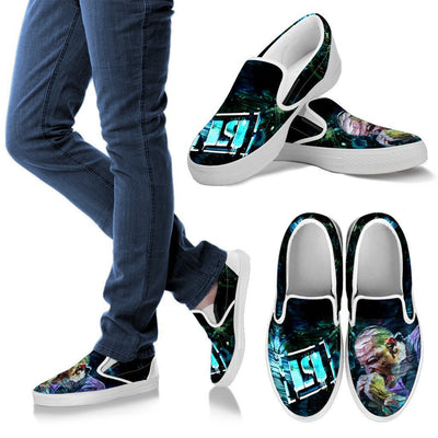 Empire Prints Shoes Men's Slip Ons / White / US8 (EU40) Men Crawling In My Skin Slip-On Canvas Shoes