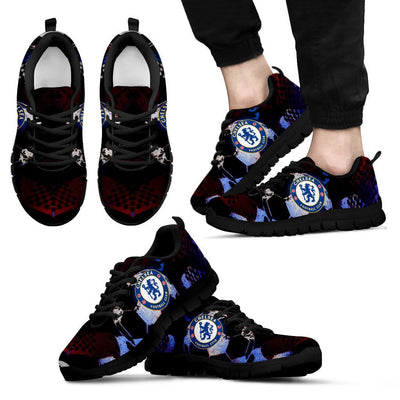 Empire Prints Shoes Men's Sneakers / Black / US5 (EU38) Chelsea Football Club Sneakers