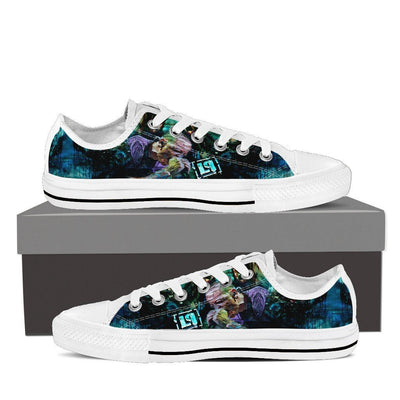 Empire Prints Shoes Mens Low Top / White / US8 (EU40) Men Crawling In My Skin Low Top Canvas Shoes