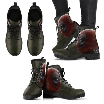 Empire Prints Shoes Women's Leather Boots / US5 (EU35) Women Deadpool Leather Boots