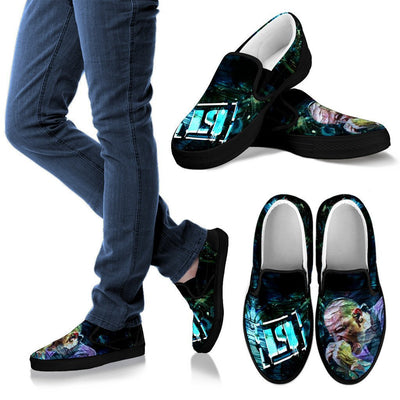 Empire Prints Shoes Women's Slip Ons / Black / US6 (EU36) Women Crawling In My Skin Slip-On Canvas Shoes