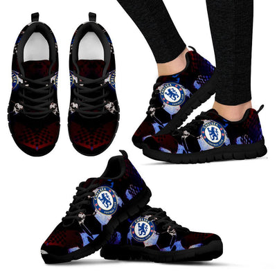 Empire Prints Shoes Women's Sneakers / Black / US5 (EU35) Chelsea Football Club Sneakers