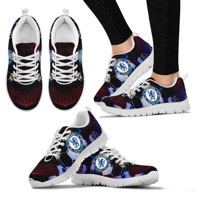 Empire Prints Shoes Women's Sneakers / White / US5 (EU35) Chelsea Football Club Sneakers