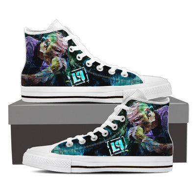 Empire Prints Shoes Womens High Top / White / US6 (EU36) Women Crawling In My Skin High Top Canvas Shoes
