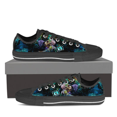 Empire Prints Shoes Womens Low Top / Black / US6 (EU36) Women Crawling In My Skin Low Top Canvas Shoes
