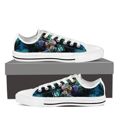 Empire Prints Shoes Womens Low Top / White / US6 (EU36) Women Crawling In My Skin Low Top Canvas Shoes