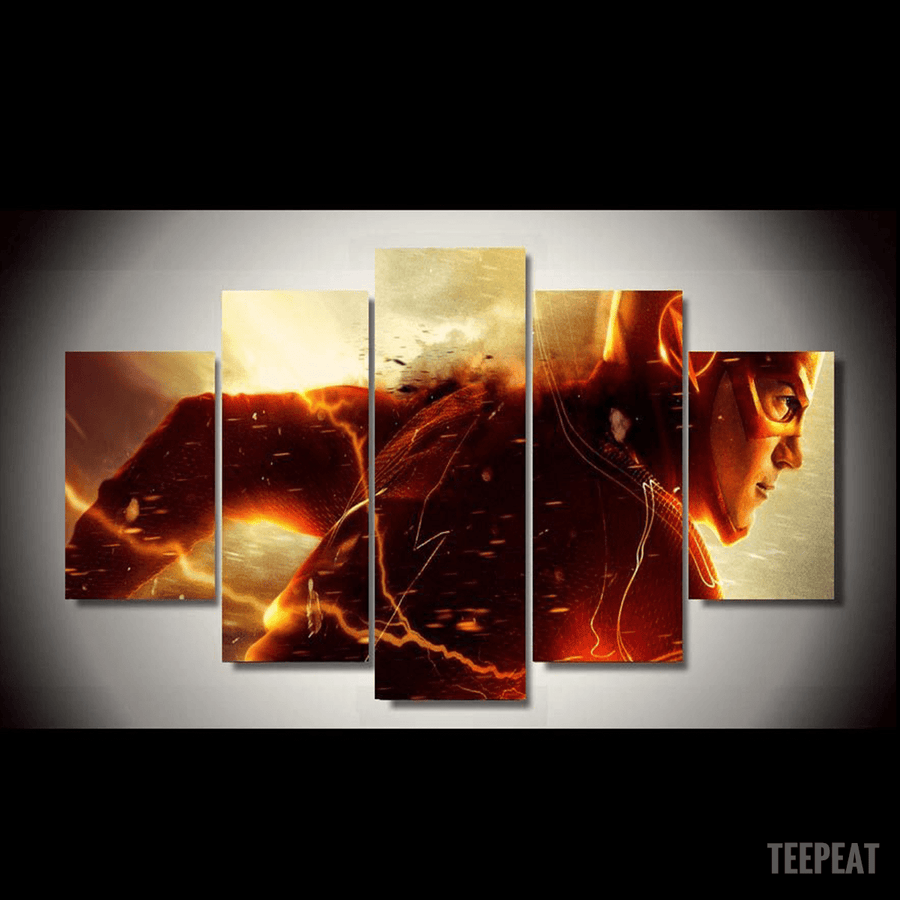 Flash Running - 5 Piece Canvas Painting