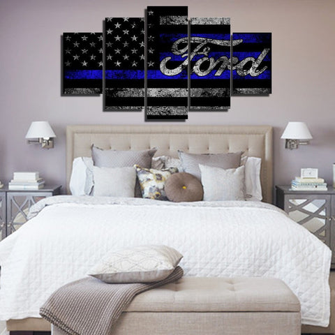 Ford V2 Painting - 5 Piece Canvas-Canvas-TEEPEAT