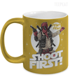 Shoot First Metallic Mug