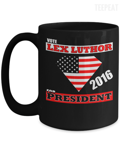 Vote Lex Luthor Mug-Coffee Mug-TEEPEAT