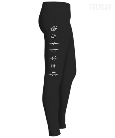 Naruto Symbols Leggings