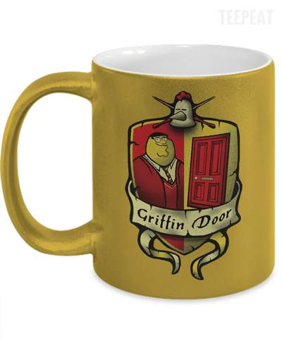 Griffin Door Metallic Mug-Coffee Mug-TEEPEAT