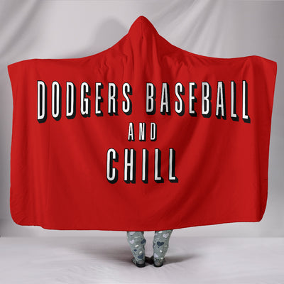 Dodgers Baseball and Chill Hooded Blanket