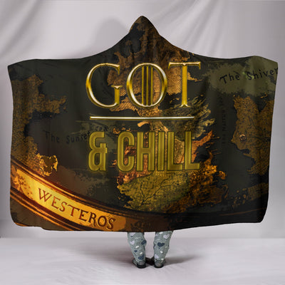 GoT and Chill Hooded Blanket