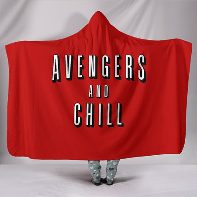 Avengers and Chill Hooded Blanket