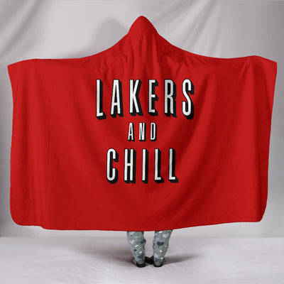 Lakers and Chill Hooded Blanket