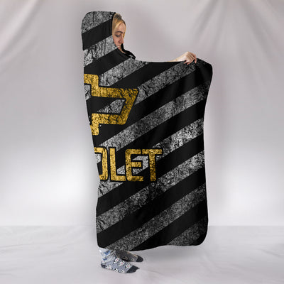 Chevy Flag Hooded Blanket