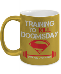 Training to Kill Doomsday Metallic Mug