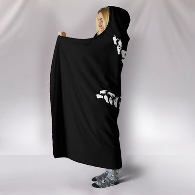 I Love You Sign Language Hooded Blanket