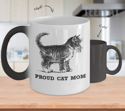 Proud Cat Mom Color Changing Mug-Coffee Mug-TEEPEAT