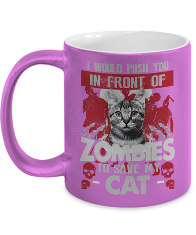 Save My Cat Metallic Mug-Coffee Mug-TEEPEAT