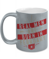 Real Men Are Born In February Metallic Mug