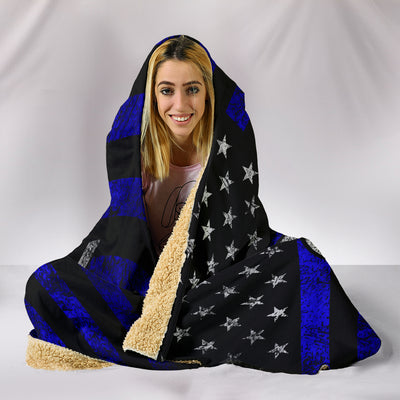 Ford Flag Hooded Blanket