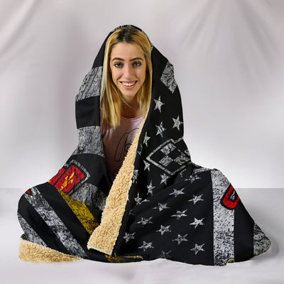 Corvette Flag Hooded Blanket