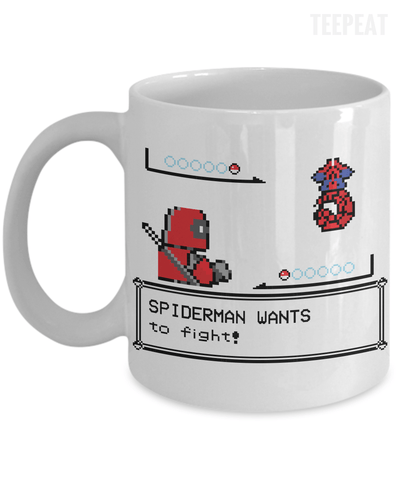 Spiderman Wants to Fight Mug