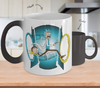 Rick and Morty Time Machine Color Changing Mug