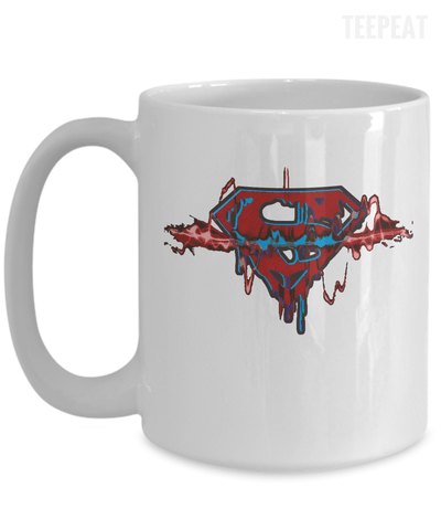 Superman Pulse Mug-Coffee Mug-TEEPEAT