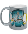 Rick and Morty Time Machine Metallic Mug
