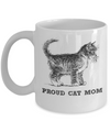 Proud Cat Mom Mug-Coffee Mug-TEEPEAT