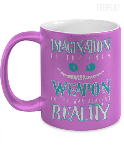 Imagination Is The Only Weapon Metallic Mug-Coffee Mug-TEEPEAT