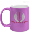 Jedi Pulse metallic Mug-Coffee Mug-TEEPEAT