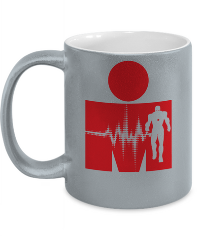 Iron Man Pulse Metallic Mug-Coffee Mug-TEEPEAT