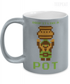 Pixel Drop Pot Metallic Mug