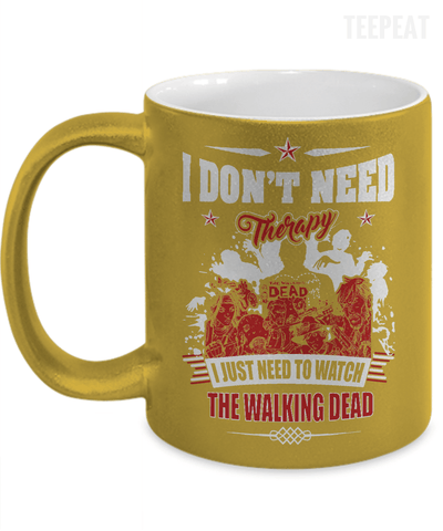 Watch The Walking Dead Metallic Mug-Coffee Mug-TEEPEAT