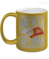 Gearbubble Coffee Mug 11oz Metallic Mug / Gold Batman and Superman Metallic Mug