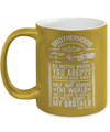 Gearbubble Coffee Mug 11oz Metallic Mug / Gold Brotherhood Metallic Mug