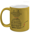 Gearbubble Coffee Mug 11oz Metallic Mug / Gold Cat Typography Metallic Mug
