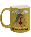 Gearbubble Coffee Mug 11oz Metallic Mug / Gold Come To The Dark Side Metallic Mug