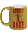 Gearbubble Coffee Mug 11oz Metallic Mug / Gold Daddy Rage Metallic Mug