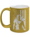 Gearbubble Coffee Mug 11oz Metallic Mug / Gold Deadpool Flag Metallic Mug