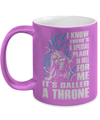 Gearbubble Coffee Mug 11oz Metallic Mug / Purple A Throne Metallic Mug
