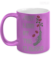 Gearbubble Coffee Mug 11oz Metallic Mug / Purple Carol Flowers Metallic Mug