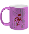 Gearbubble Coffee Mug 11oz Metallic Mug / Purple Daredevil USA Flag Metallic Mug